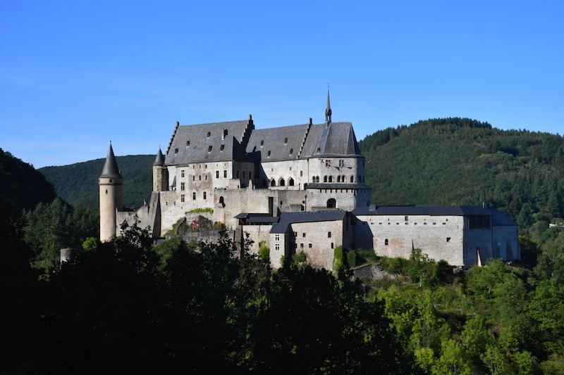 Vista del castello di Vianden